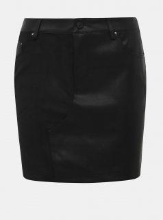 Černá koženková sukně Noisy May