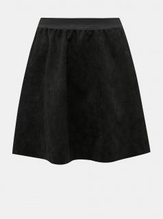 Černá minisukně v semišové úpravě Haily´s Mary