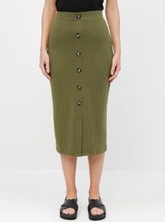 Khaki pouzdrová sukně TALLY WEiJL