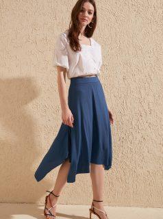 Modrá sukně Trendyol