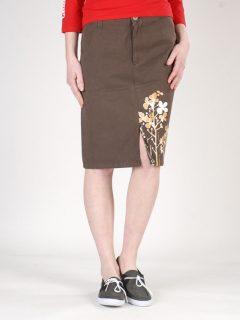 Peace LONG SKIRT BRW krátká sukně – hnědá