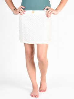 Picture Bella off white krátká sukně – bílá
