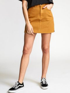 RVCA ROWDY MINI CATHAY SPICE krátká sukně – hnědá