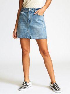 RVCA SIENA VINTAGE BLUE krátká sukně – modrá