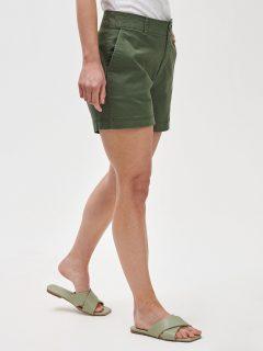 Zelené dámské kraťasy 5 mid rise khaki shorts