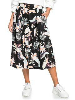 Roxy NIGHT TIME ANTHRACITE LARGE PRASLIN krátká sukně – černá