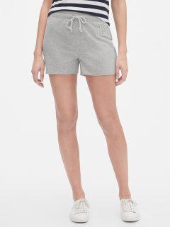 Šedé dámské kraťasy GAP Logo shorts