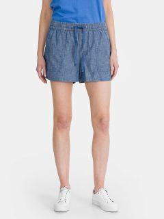 Modré dámské kraťasy GAP pull-on chambray shorts