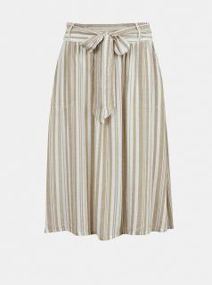 Béžovo- bílá pruhovaná sukně ONLY Manhattan