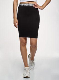 Sukně mini s gumou v pase OODJI
